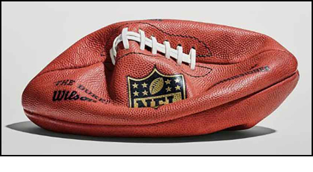 Deflated NFL football